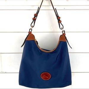 Dooney and Bourke Large Blue Nylon Shoulder Bag